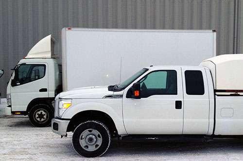 Camions de l'entreprise Cat-Man